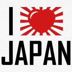 I love Japan heart design