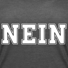 NEIN football letters design t-shirt