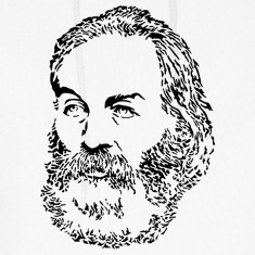 Walt whitman portrait literature design