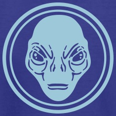 alien face design t-shirt