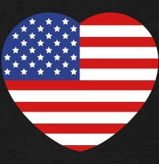 Design your Heart America flag t-shirts and accessories