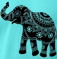 T-shirts Indian decorated elephant personnalisés