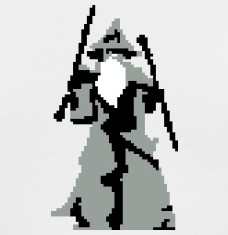 Design your Gandalf Pixel Art t-shirts and accessories