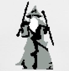 T-shirts Gandalf Pixel Art personnalisés