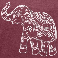 indian elephant outline design t-shirt