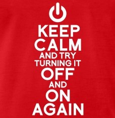 T-shirts Keep calm geek personnalisés