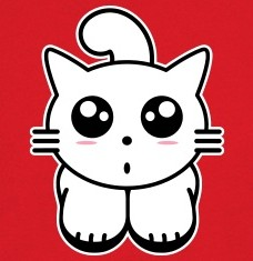 Design your Kitty cat kawai t-shirts and accessories