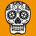 Mexico skull, calavera 2 colors. Print a t-shirt.