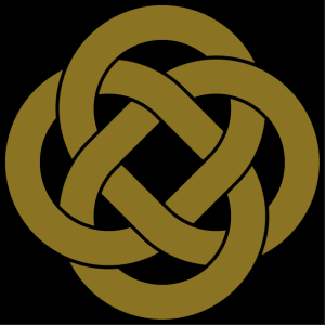 Celtic loops forming an elegant knot. Celtic design in one color to customize.