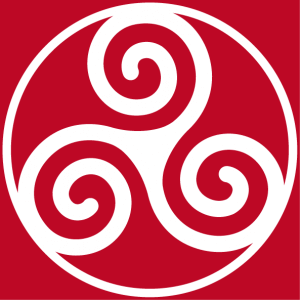 Basic triskel, Celtic symbol with three branches. Special symbol for printing t-shirts.