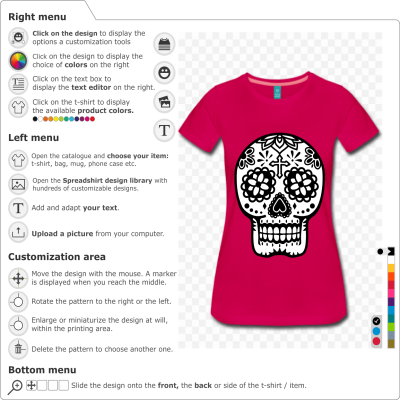 Customize a Skull t-shirt