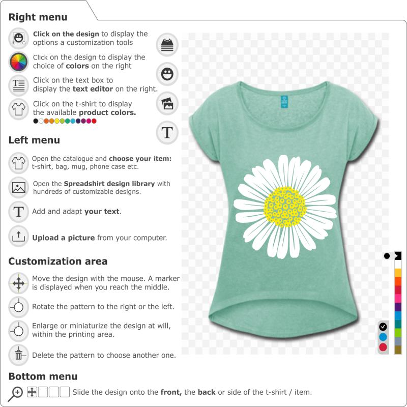 Create a daisy t-shirt