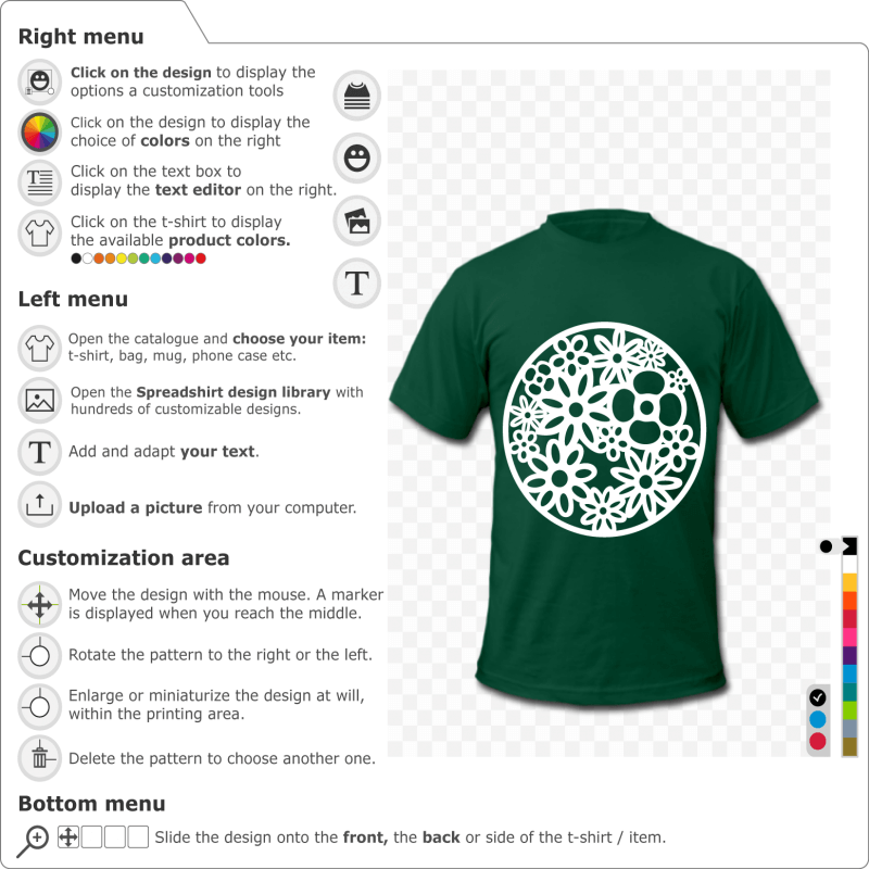 Print your flower t-shirt