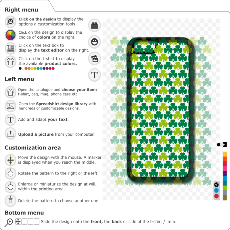 Print a shamrocks phone case