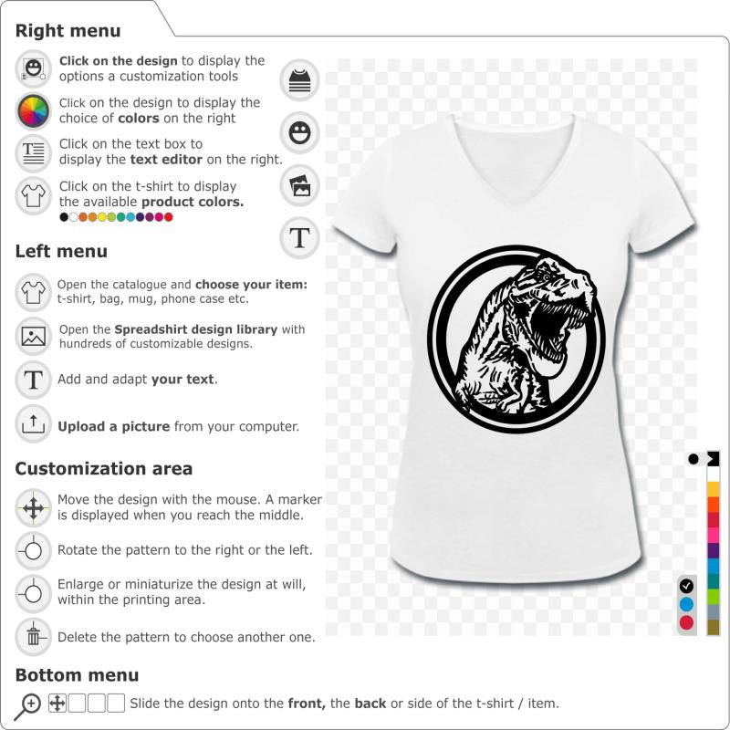 Print your Dinosaur Tyrannosaurus rex t-shirt