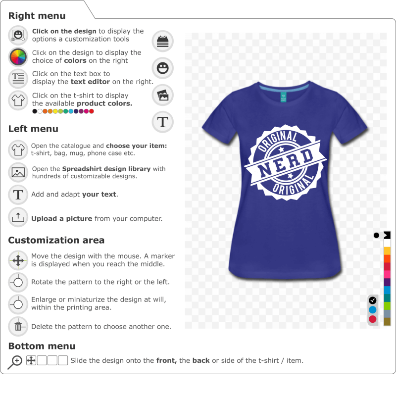 Create your own original custom nerd t-shirt