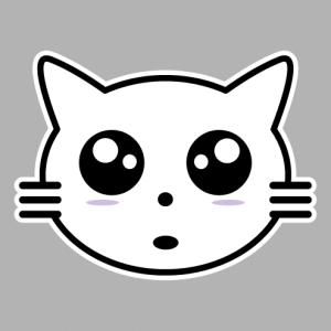 Create a kawaii kitten t-shirt with this stylish cat head.