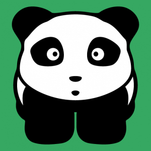 Cute two-color panda, customizable design specially designed to print on t-shirt bag and fabric.