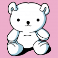 Kawaii teddy bear sitting, 3 colors teddy bear