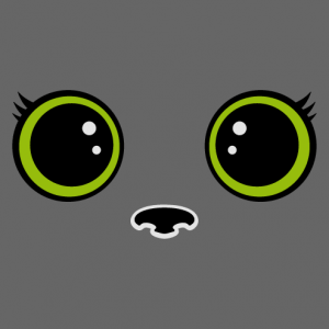 Kawaii cat eyes t-shirt with large eyelashes to create yourself.