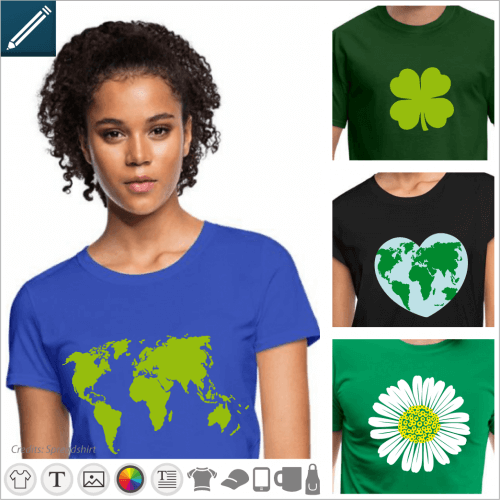 T-shirt nature and ecology, say your love of the planet with a t-shirt.