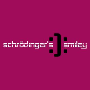 Schrödinger, smiley:): geek joke and science design.