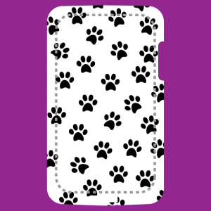 Cat paw prints phone case to customize and print online.
