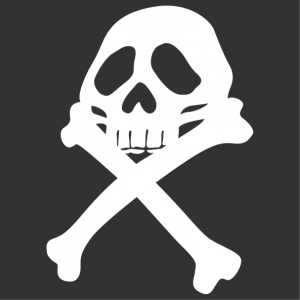 Create a pirate t-shirt with this pirate emblem inspired by the Harlock flag.