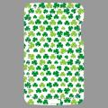 Light green and dark green Irish clovers, custom design for printing on iPhone case.