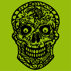 T-shirt Flowered skull to customize, special t-shirt print design.