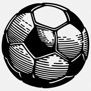 Transparent soccer ball to print on t-shirt or sports bag.