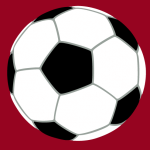 Soccer design to print on t-shirt. Simple ball designed in solid colors and lines of three customizable colors.