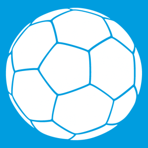 One color soccer ball, soccer design to customize and print on t-shirt.