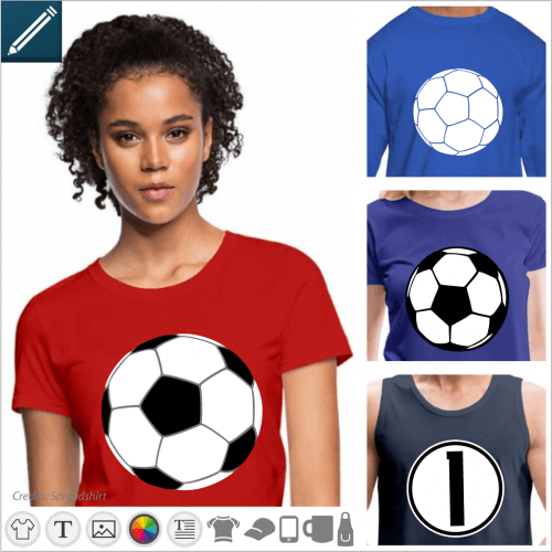 Custom sport t-shirt. Create your football t-shirt or ball online, print a jersey in the colours of your country.