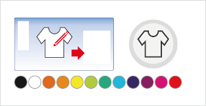Customize the color of the t-shirt.